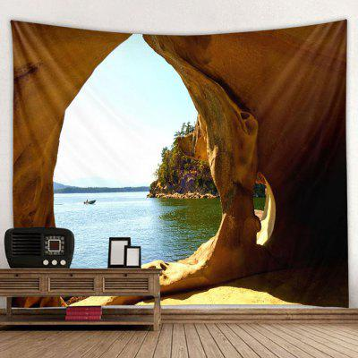 Coast Cave Landscape Digital Printing Home Tapestry