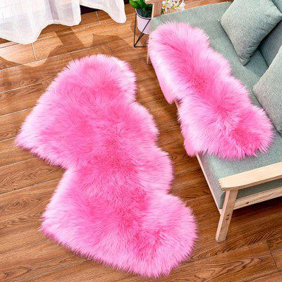 Stylish Soft Comfortable Double Heart Carpet