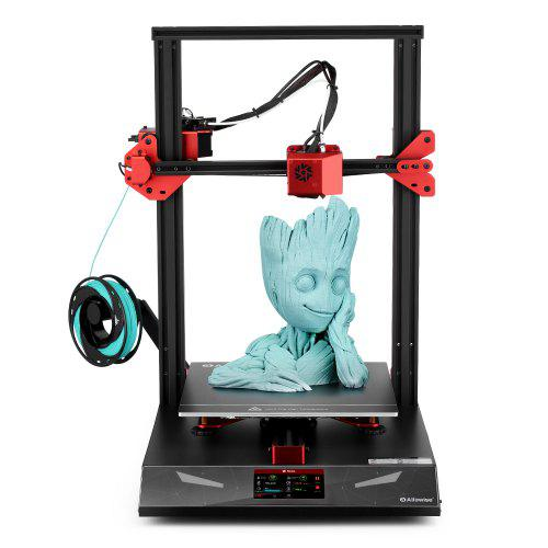 Gearbest Alfawise U20 Pro Auto-leveling Creative FDM 3D Printer - Black EU Plug with 300 x 300 x 400mm Printing Size / 4.3 - inch Touch Screen / Ultra-quiet Drive / Resume Function