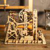 Robotime DIY Coaster Building Blocks jucărie Kit - BURLYWOOD