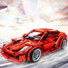 Children's DIY Car Building Blocks Toy 603pcs - RED