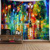 Rainy Night Street colț abstract tapiserie decorative - MULTI-A