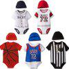 Baby Boys Baseball Style Triangle Romper with Hat - MULTI-A