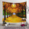 Fallen Autumn 3D Digital Printing Creative Home Art Wall Tapestry - SAFFRON