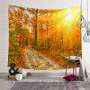Sunset Treeway 3D Digital Printing Creative Home Art Wall Decoration Tapestry - BEE YELLOW