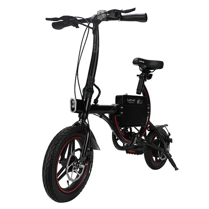 Lutewei C6 Light Electric Bicycle with Smart Sensor - Black Lutewei C6