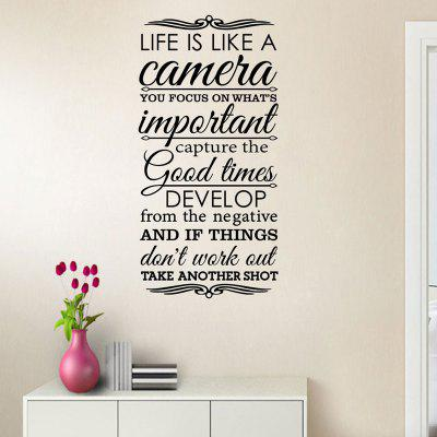 English Proverbs Wall Bedroom Wall Decoration Sticker