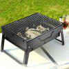 Outdoor Portable Faltbarer Barbecue Picknick Grill - SCHWARZ