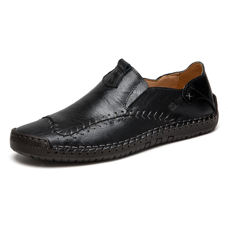 AILADUN Men's Second Floor Cow Skin Casual Shoes Unique Stitching