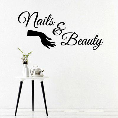 MU4525 Nail Shop Flower Decoration Window Sticker