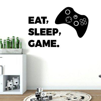 MU4521 Wanddecoratie Gamepad Eet Sleep Game Sticker