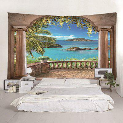 3D Seascape Tisk Seaside Tapestry