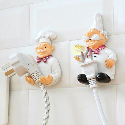 Creative Cartoon Kitchen Power Cord Storage Rack 2pcs