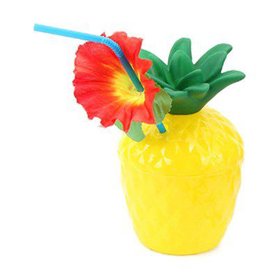 Ananas Tasse Hawaiisches Party Outdoor Staubsauge Strand Dekoration 2 Stücke