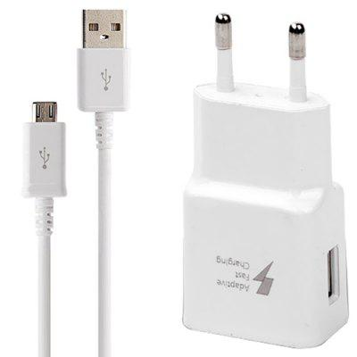Household Portable Charger Fast Charging Android Data Cable EU Plug