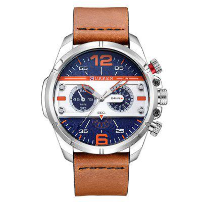 CURREN 8259 masculin student Student impermeabil cuarț Watch Genuine piele Band