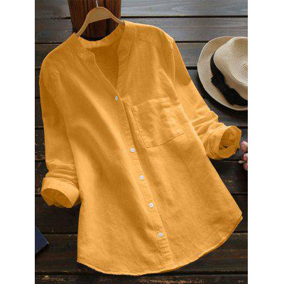 Women's Shirt Solid Color Long Sleeve Large Size Casual Loose