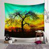Landscape Tree 3D Digital Printing Tapestry Creative Home Art Wall Decoration - AQUAMARINE