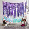 Dream Forest Tapestry 3D Digital Printing Creative Home Art Wall Decoration - HELIOTROPE PURPLE
