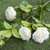Curled Small Roses Home Decoration Flowers - WHITE