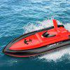 2.4G 4W Flying Fish RC Boat Toy - RED