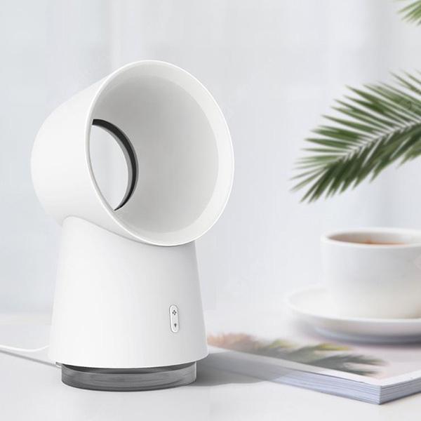 Happy Life USB Spray Night Light Leafless Fan from Xiaomi youpin - White