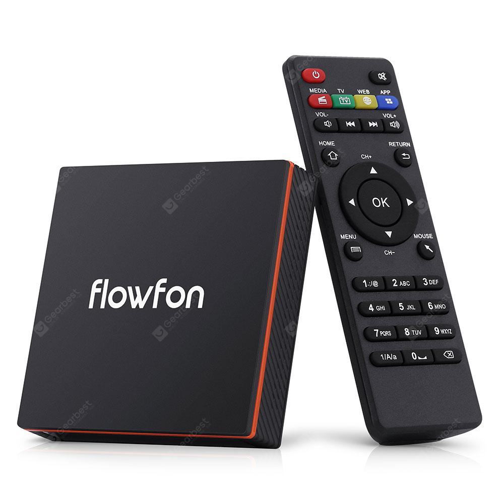 Flowfon F1 Smart TV Box Android 90 Black EU Plug