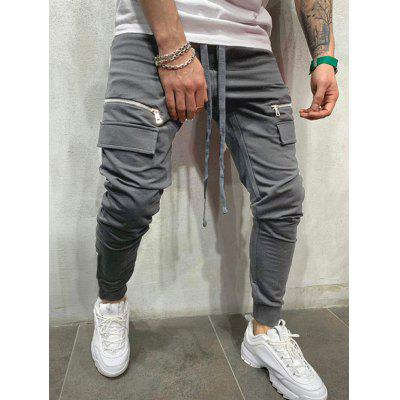 Men's Pants Multi-pocket Zipper Decoration