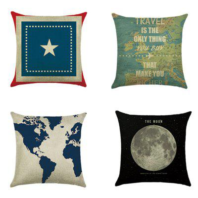 Digital Printing Car Cushion Home Pillowcase 4PCS