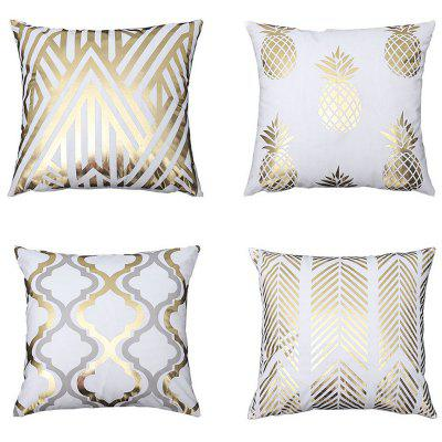 Hot Stamping Series Creative Pillow Case Cushion Cover 4pcs