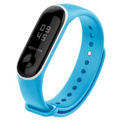 TAMISTER Two-color Silicone Replacement Wristband for Xiaomi Mi Band 3