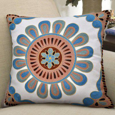Cotton Wool Embroidered Single-sided Pillowcase