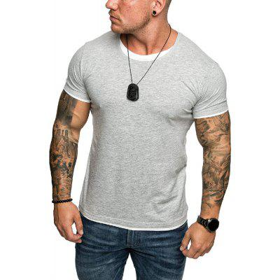 Men's  Summer New Large Size Casual Trend Short-Sleeved T-Shirt