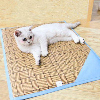 Pet Cat Dog Summer Two-sided Straw Mat Pad