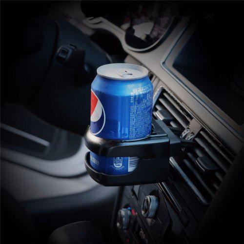 Grey Grebest Car Cup Holder Interior Decoration Cup Holder Foldable Plastic Car Air Vent Outlet Water Cup Drink Bottle Can Holder Stand