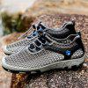 AILADUN Men's Hollow Out Outdoor Casual Shoes Breathable - GRAY