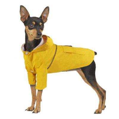 Summer Dog Double Layer Windproof Hooded Raincoat