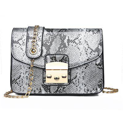 shuntian1713 Women's Snake Pattern Personality Crossbody Bag Chain Strap