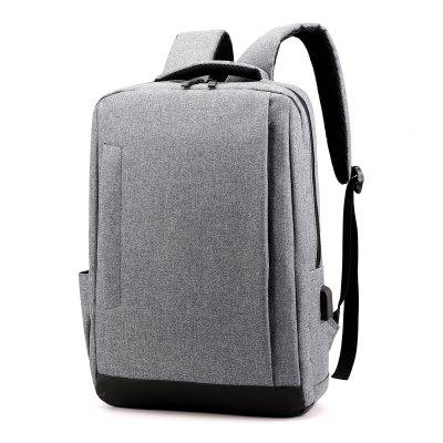 xyz902 Men's USB Charging Solid Color Fashion Backpack Computer Bag