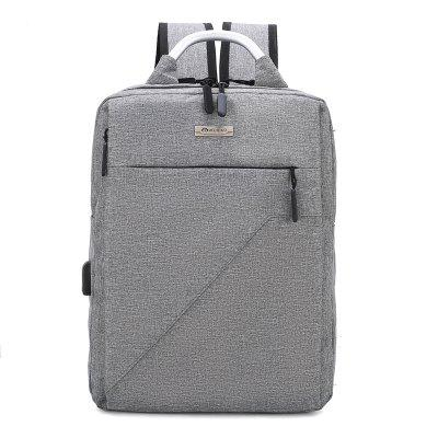 xyz1808 Men's Casual Square Stylish Backpack with Charging Hole