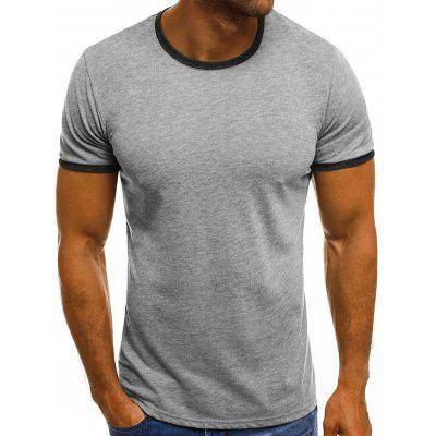 Men's T-shirt Fashion Casual Round Neck Solid Color Short Sleeve