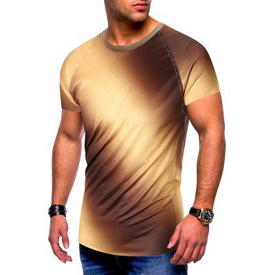 Tee shirt Homme Gradient Col Rond Manches Courtes