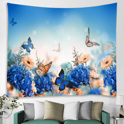 Butterfly Flowers Printed Tapestry