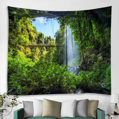 Waterfall Flyover Printed Tapestry