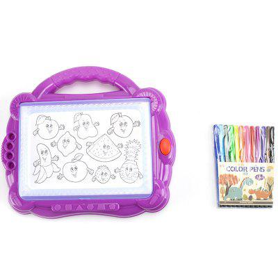 Kinderen Educatieve Early Backlit Color Portable Painting Board