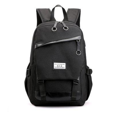 Men's Backpack USB Charging Hole Casual Computer Bag Fashion