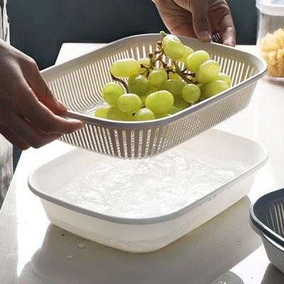 Vegetable Fruit Cleaning Storage Double Drain Basket