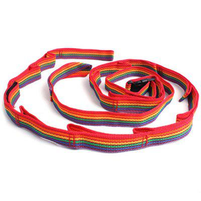Outdoor Tent Lanyard Camping Clothesline Double-layer Color Ribbon