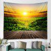 Rising Sun Polyester Printed Tapestry - BRIGHT YELLOW