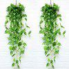 Soft Path Green Radish Bunch Wall Hanging Vine - TEA GREEN